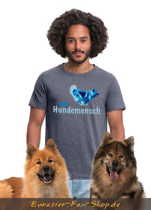 Eurasier T-Shirt für Männer - 100% Hundemensch
