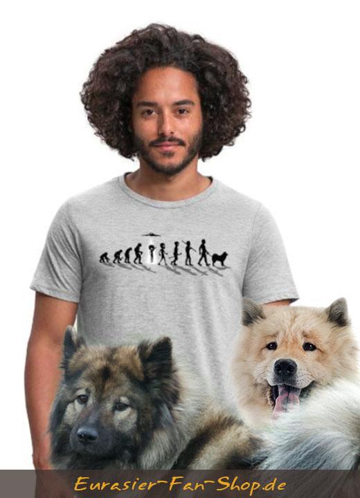 Eurasier T-Shirt für Männer - Alien Eurasier