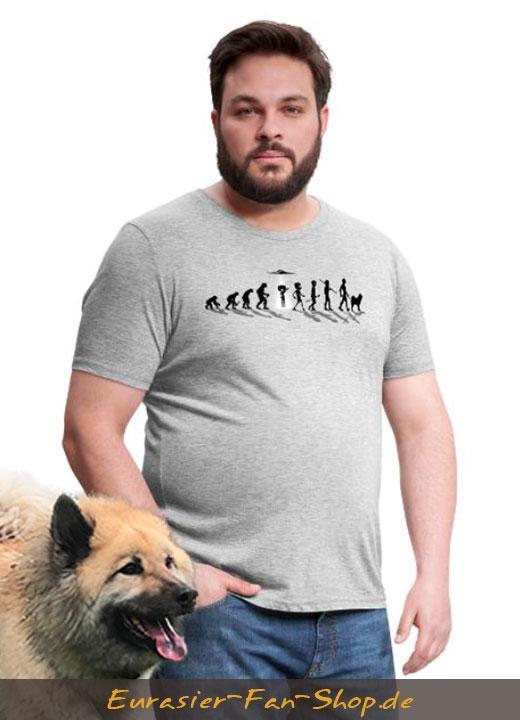 Eurasier T-Shirt XXL Männer - Alien Eurasier