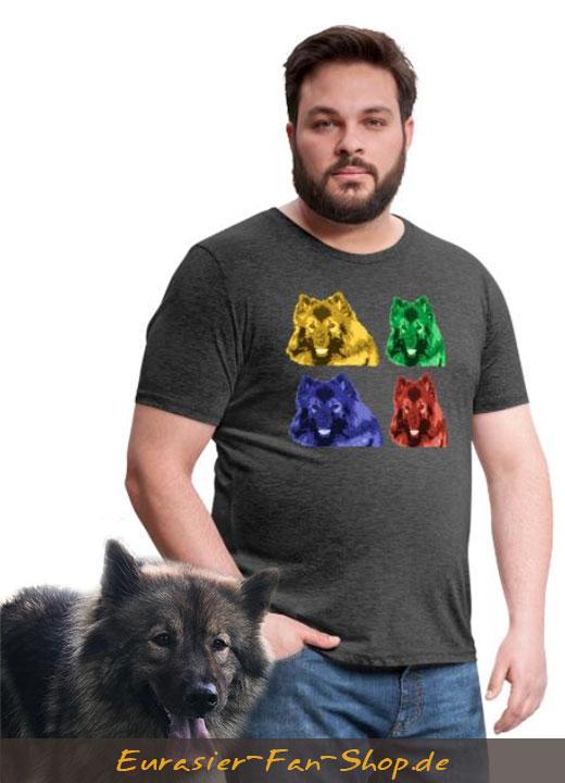 Eurasier T-Shirt XXL Männer - Warhol Style