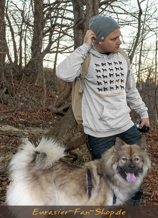 Eurasier Hoodie-Pulli - Think different