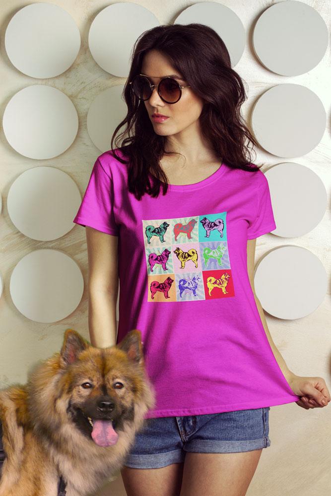Eurasier T-Shirt Frauen - Pop Art