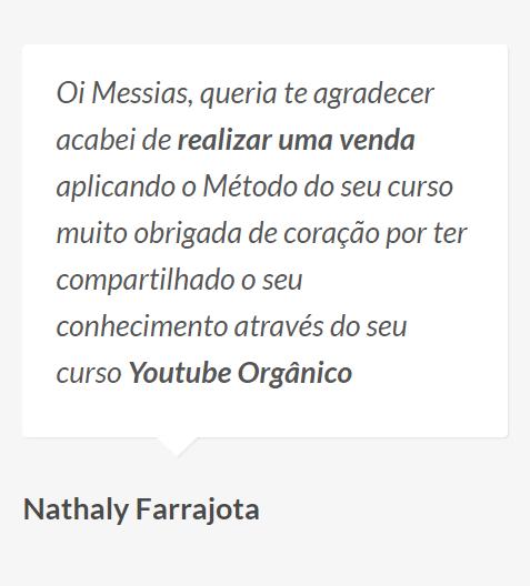 Nathaly: Depoimento se o Treinamento Youtube Orgânico Funciona