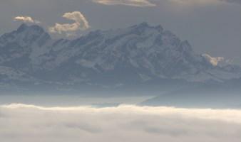 Nebelwolken und Säntis