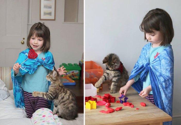 猫と少女はいつもいっしょ