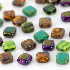 czech mates two hole beads