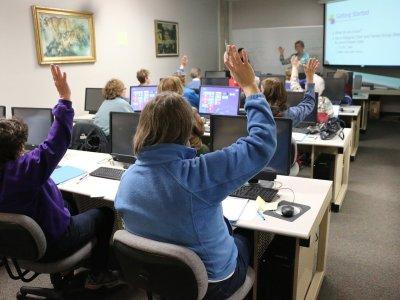 classroom, computer, technology