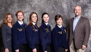 Courtesy photo Diamond Mountain FFA Chapter members participated in the National FFA Nursery/Landscape Career Development Event in Louisville recently, receiving a bronze emblem for their efforts.