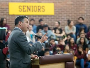 "John Byrne During a visit to Sparks High School on Monday, Gov. Brian Sandoval proclaimed the 2016-17 school year the ""Year of STEM,"" promoting science, technology, engineering and mathematics education."