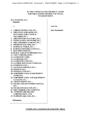 sfa-systems-llc-vs-1800-flowers-com-inc-complaint