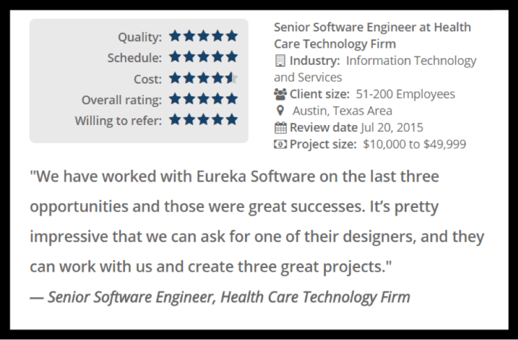 top mobile app developer austin tx review eureka software