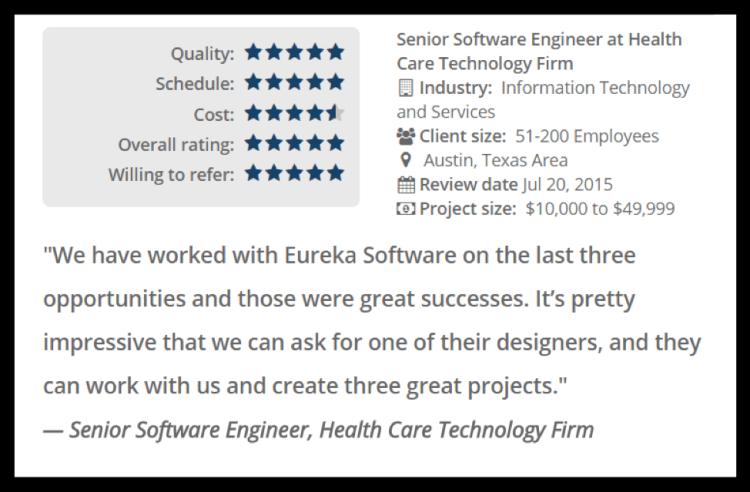 top mobile app developer austin tx review eureka software