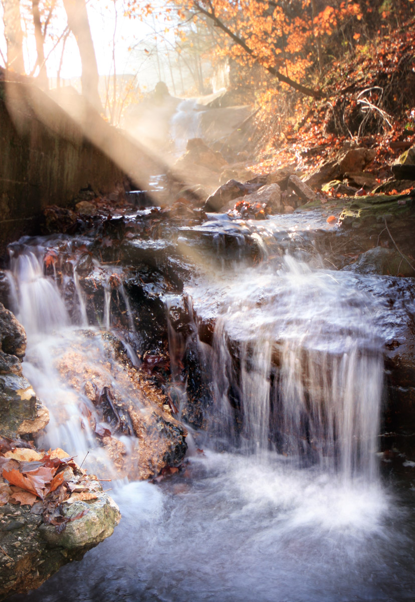 Spring Waterfalls Near Eureka Springs