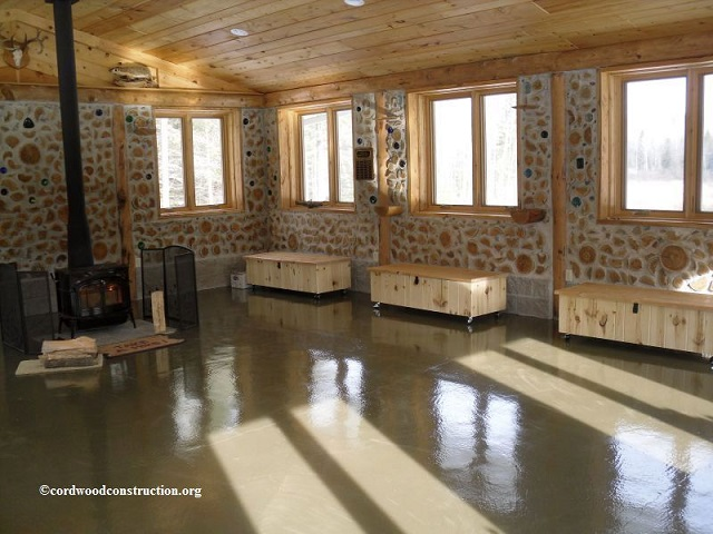 Cordwood Education Center interior