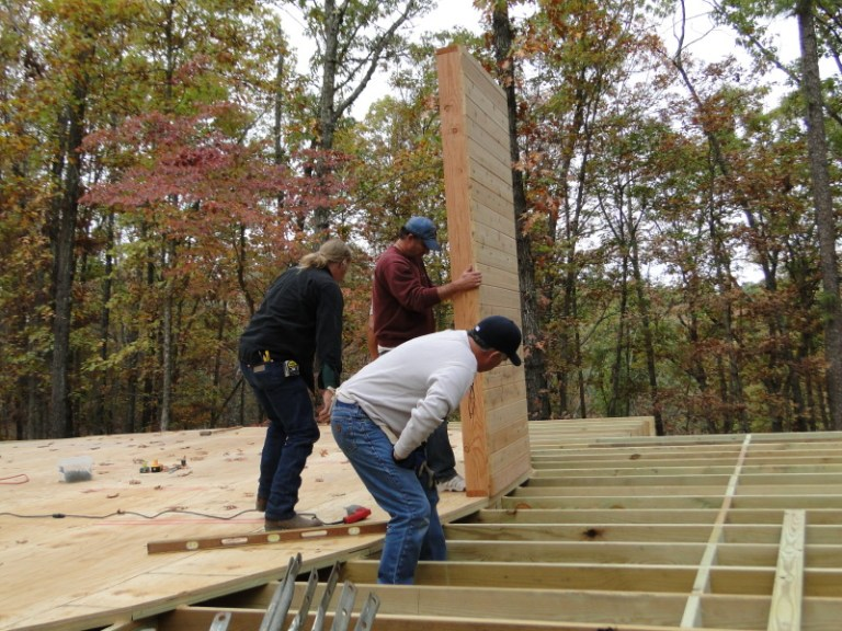 Attaching the first wall
