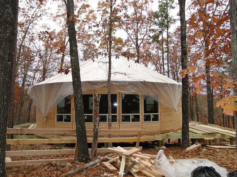 Fully Tarped Yurt