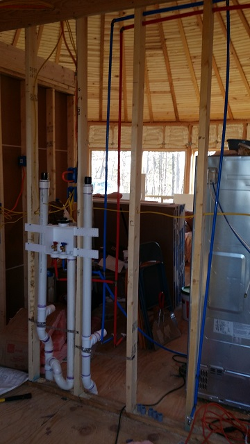 Adding the plumbing and wiring