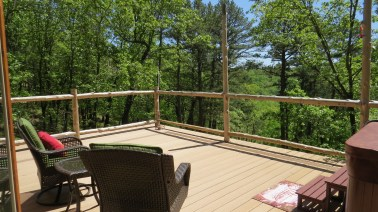 Each Yurt has a large private deck to relax on.