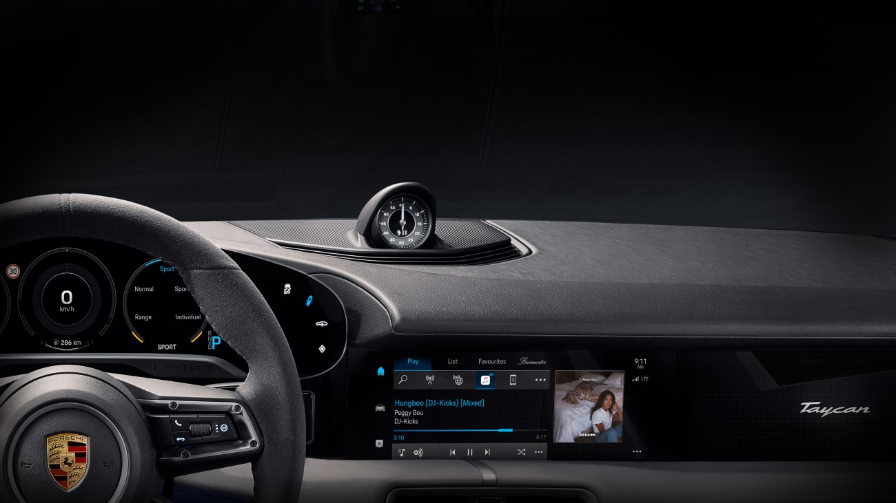 The Porsche Taycan will have the first-ever full integration of Apple Music in any vehicle (Image Courtesy of !K7 Music)