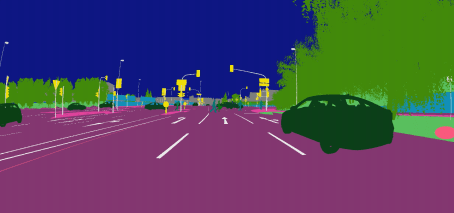 Coloured segmentation enables AI to learn to identify road furniture