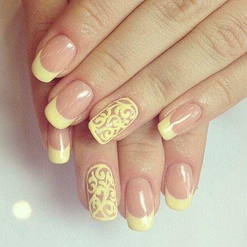 Ногти гель лак желтые. Идеи и фото дизайна ногтей, рисунки ...