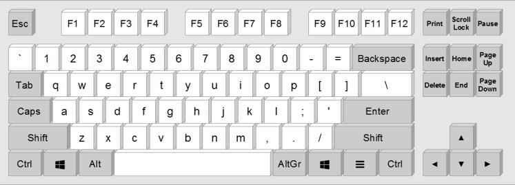 laptop keyboard layout