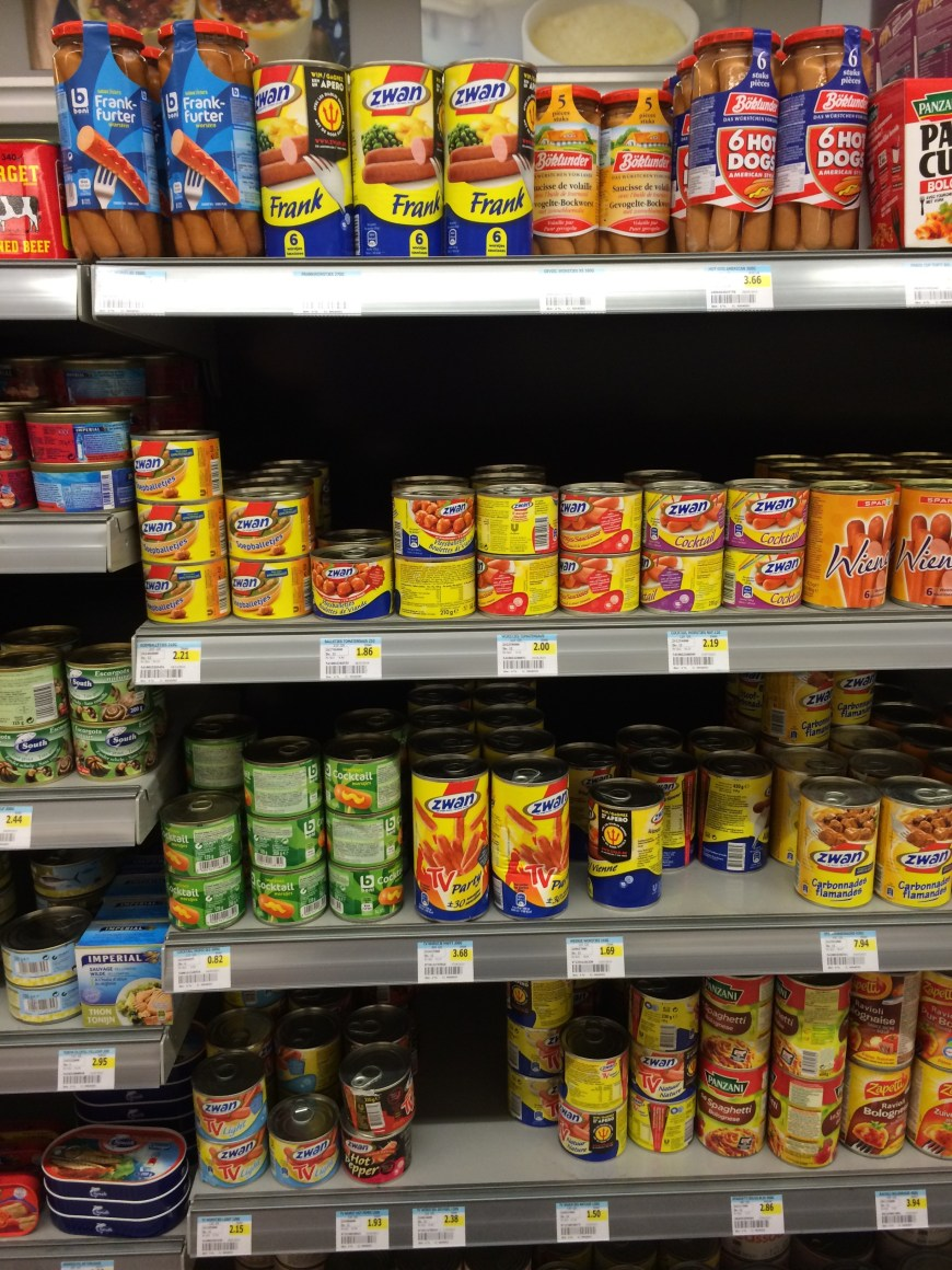 Foreign and exotic food section common to most supermarkets in the Netherlands