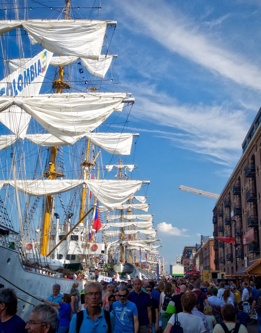 Tall ships - as far as the eye can see