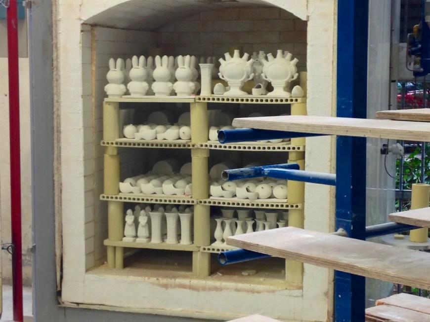 In the kiln ready for firing