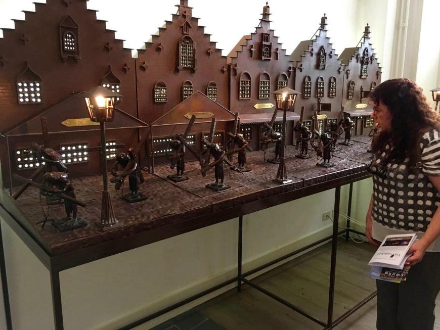 A model of the March of the Penitents, held in the Staad Huis.
