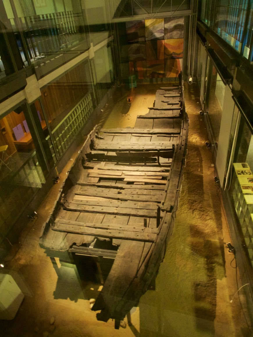 The barge was well preserved and quite complete considering it is over 1600 years old. The skill in building such a boat is awesome.