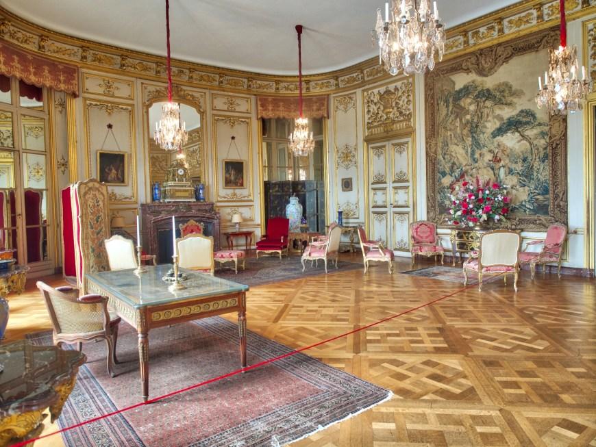 A luxurious interior