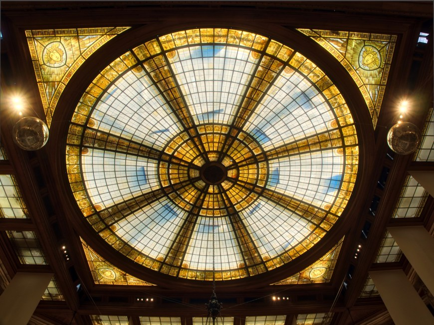 The ornate skylight.
