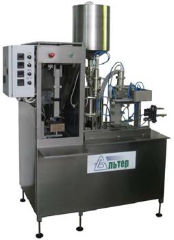 Полуавтомат розлива и упаковки жидких продуктов PURE PAK Альтер-04