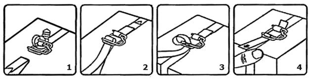 Способ затяжки с помощью пряжки