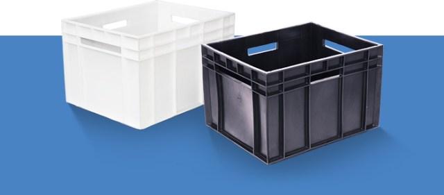Пластиковый ящик финпак молочный