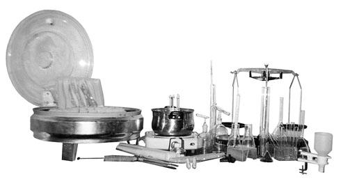 Набор лабораторной посуды для контроля качества молока