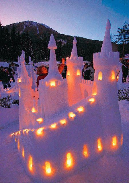 Конкурс снежных замков пройдет в Словении