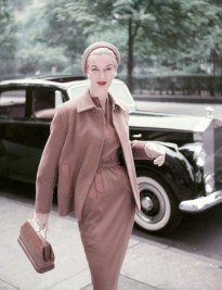 Model in Camel's Hair Suit and Cloche