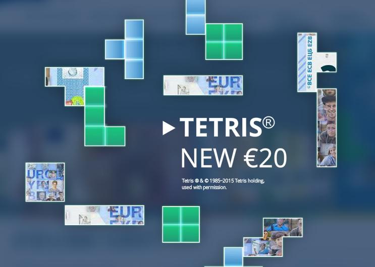 Онлайн-игра посвящена новой купюре достоинством 20 евро