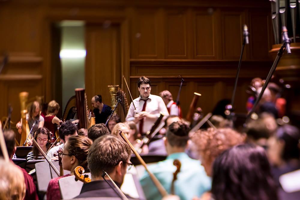 Концерт объединенного симфонического ансамбля Москвы и Дюссельдорфа