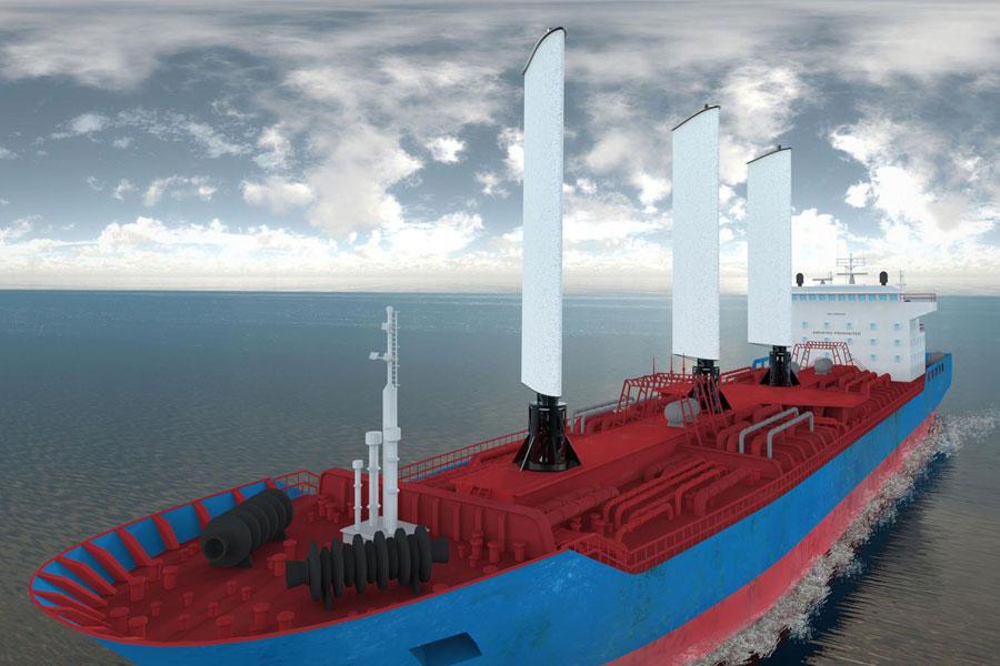 Испанский стартап разработал автономный энерго-парус для грузовых кораблей