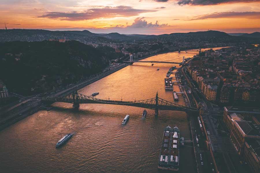 Уровень воды в Дунае опустился до рекордно низких отметок