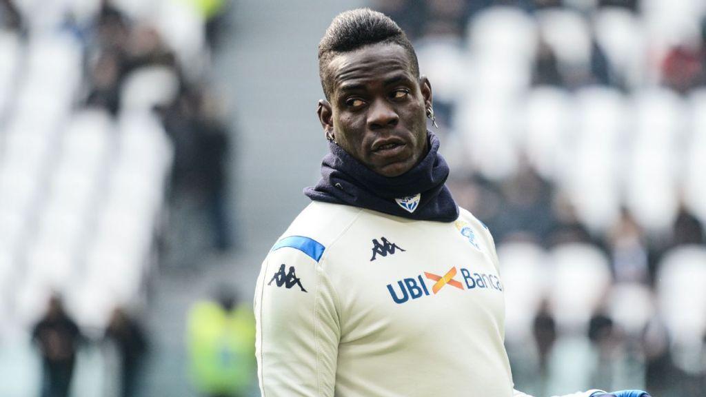 Mario Balotelli turned away from Brescia training ground
