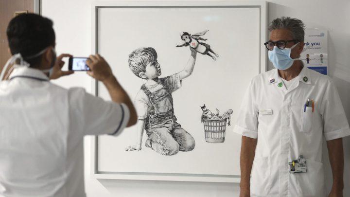 Banksy e altre opere sul Covid-19