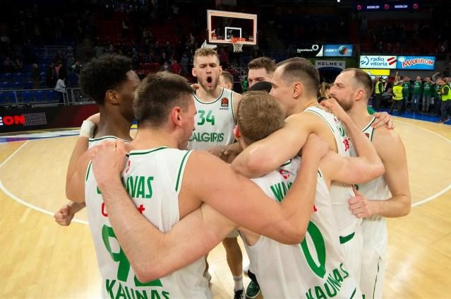 Lo Zalgiris passa sul Baskonia e torna a sperare nei playoff