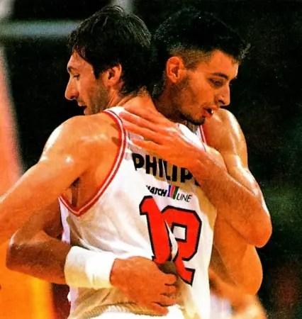 Milano e Cantù si sfidano per raggiungere la finale di Korac del 1993