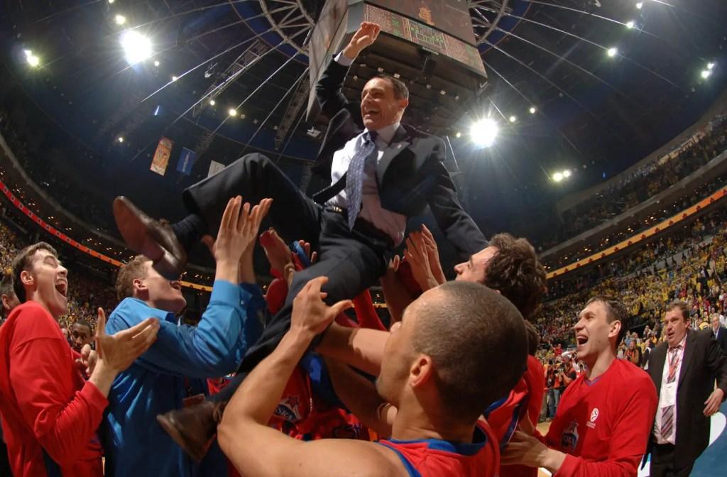 Vittoria CSKA Mosca di Ettore Messina Eurolega 2006