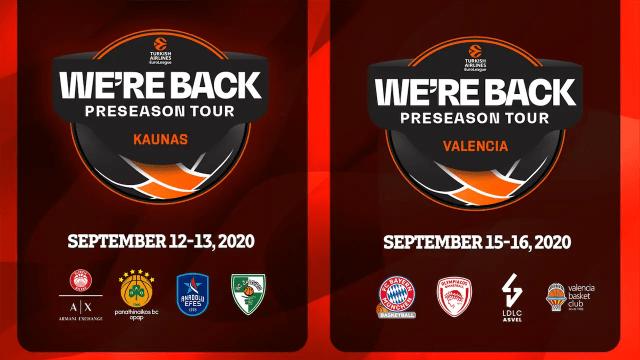 WE'RE BACK PRESEASON TOUR: il ritorno del grande basket di Eurolega