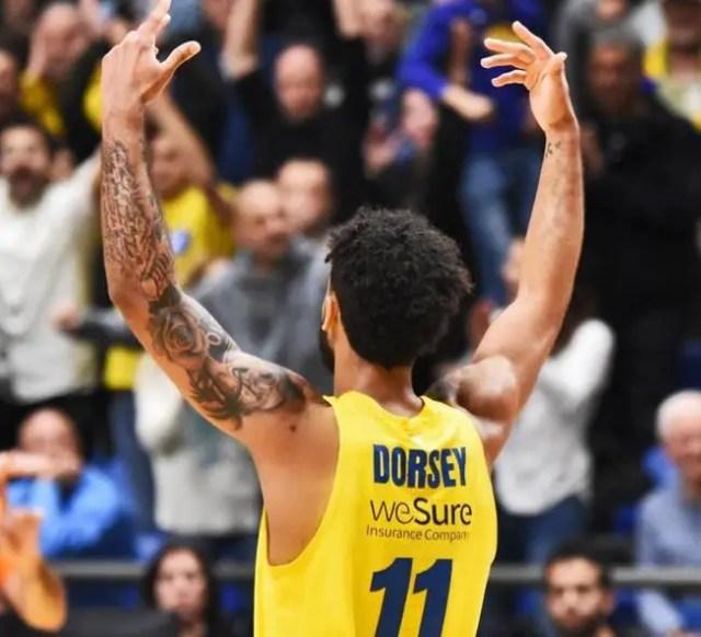 Maccabi-Valencia: Dorsey decide il 28° turno